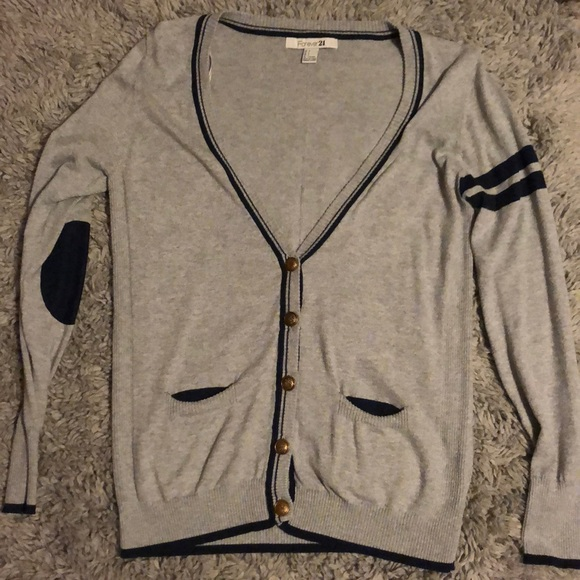 Forever 21 Sweaters - Gray and navy cardigan
